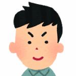 若い男性の顔のイラスト