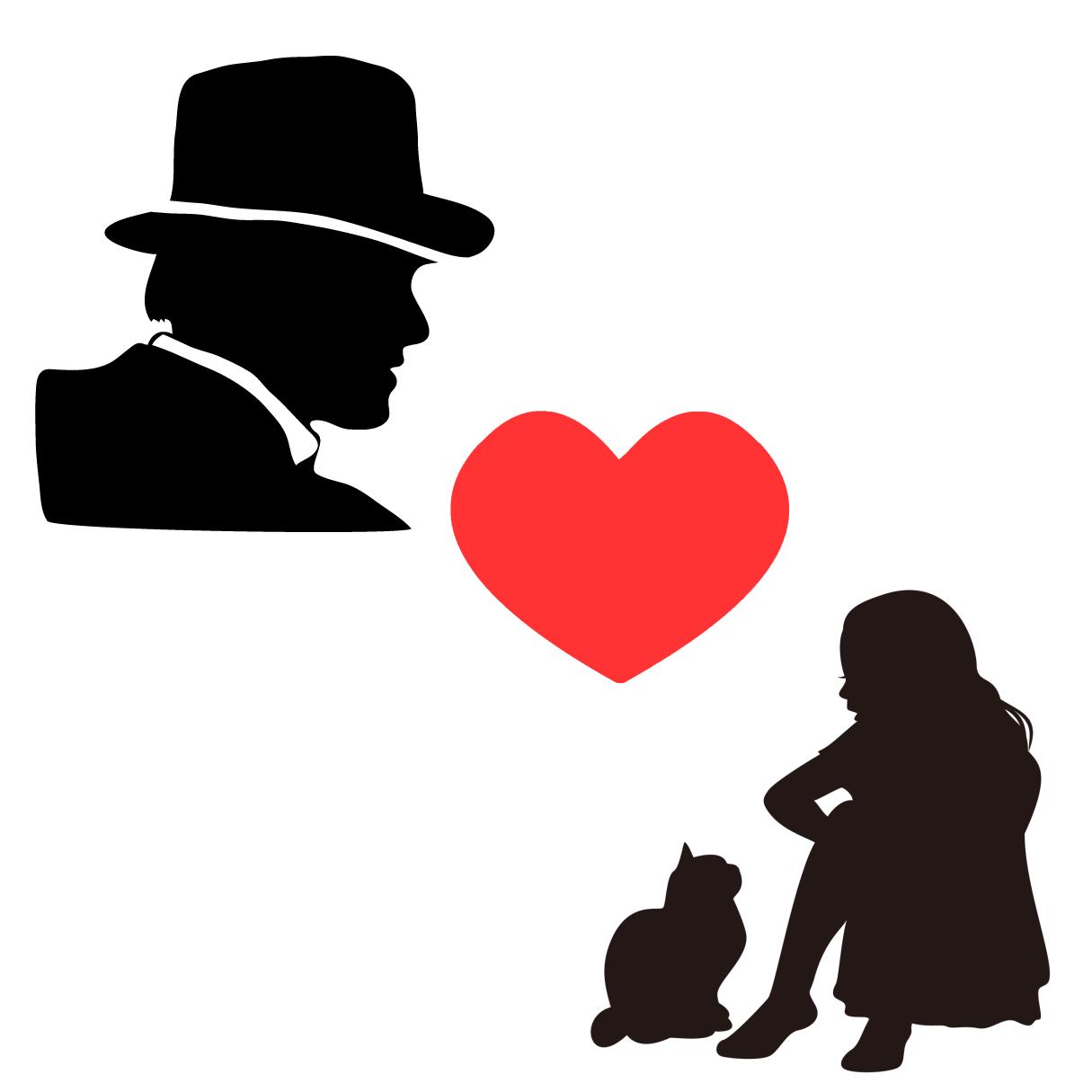 アダルトチルドレン_プラケータータイプの恋愛傾向を表すイラスト