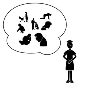 ケアテイカータイプが原因で起きる問題を表しているイラスト