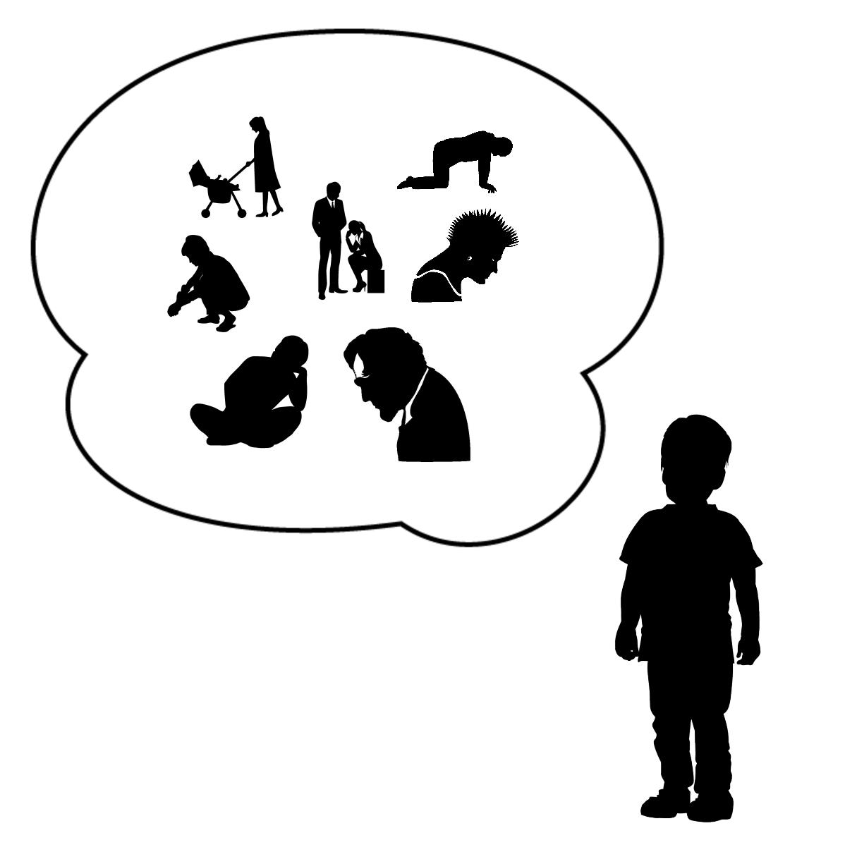 ロストワンタイプが抱える症状と問題を表しているイラスト