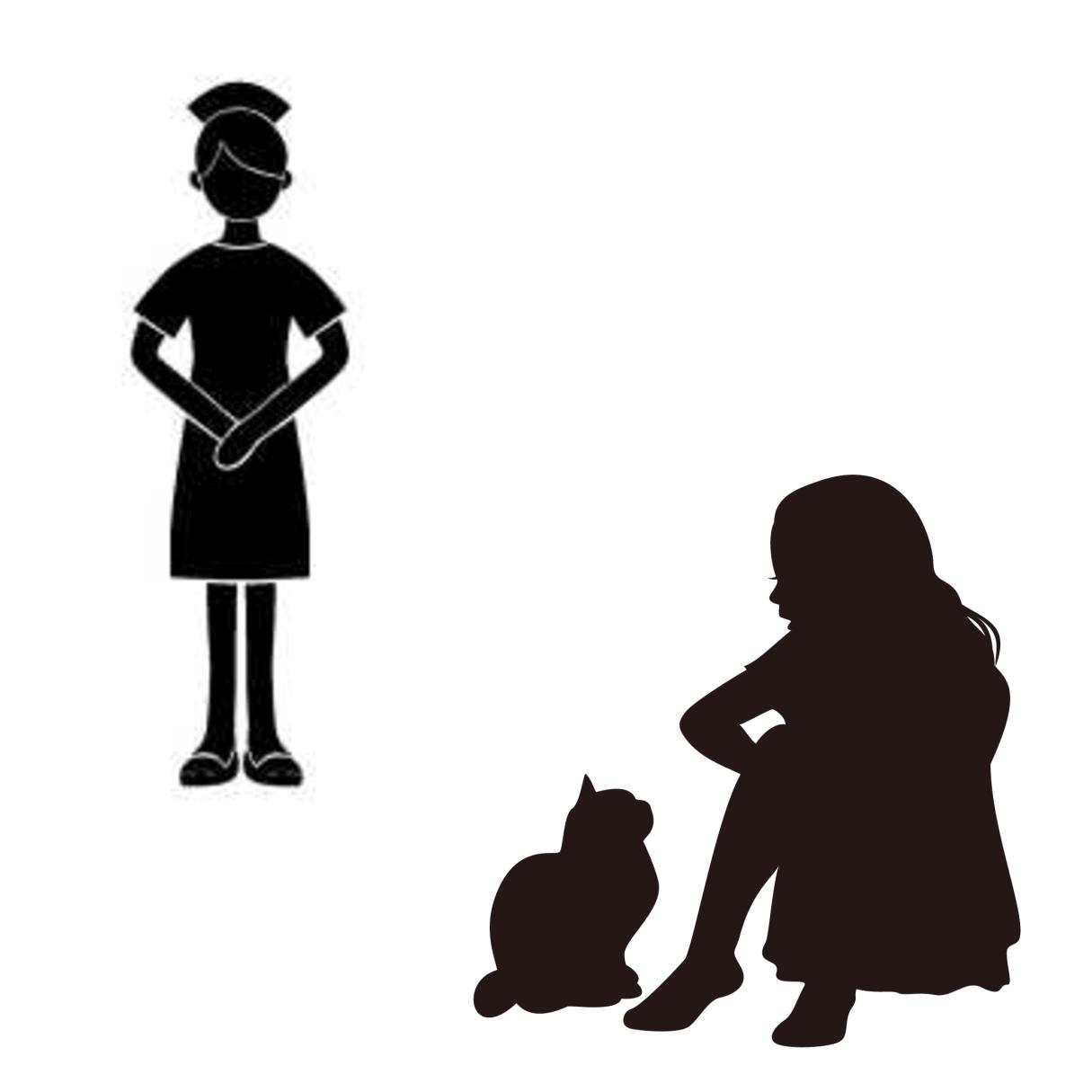 ケアテイカー(世話役)とプラケーター(慰め役)の違いを表すイメージ