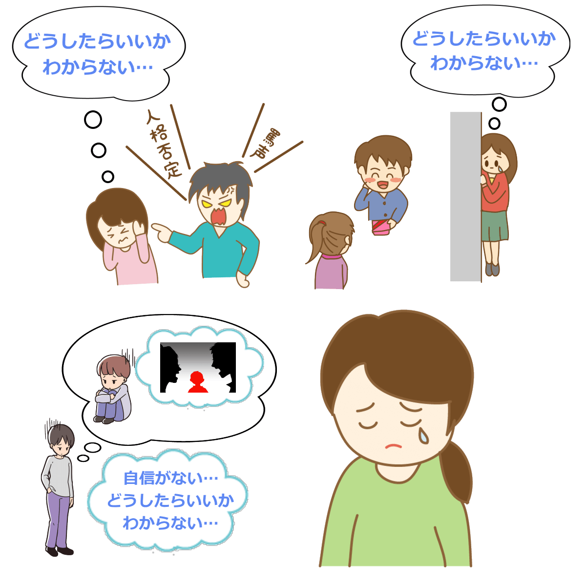 どうしたらいいかわからない心理_恋愛編のイラスト