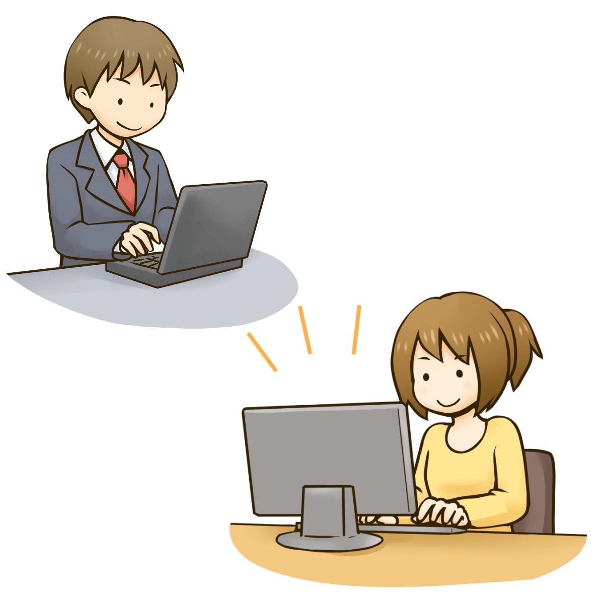オンラインカウンセリングのやり方を表わしているイラスト