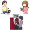 オンラインカウンセリング料金の支払い方法を表すイラスト