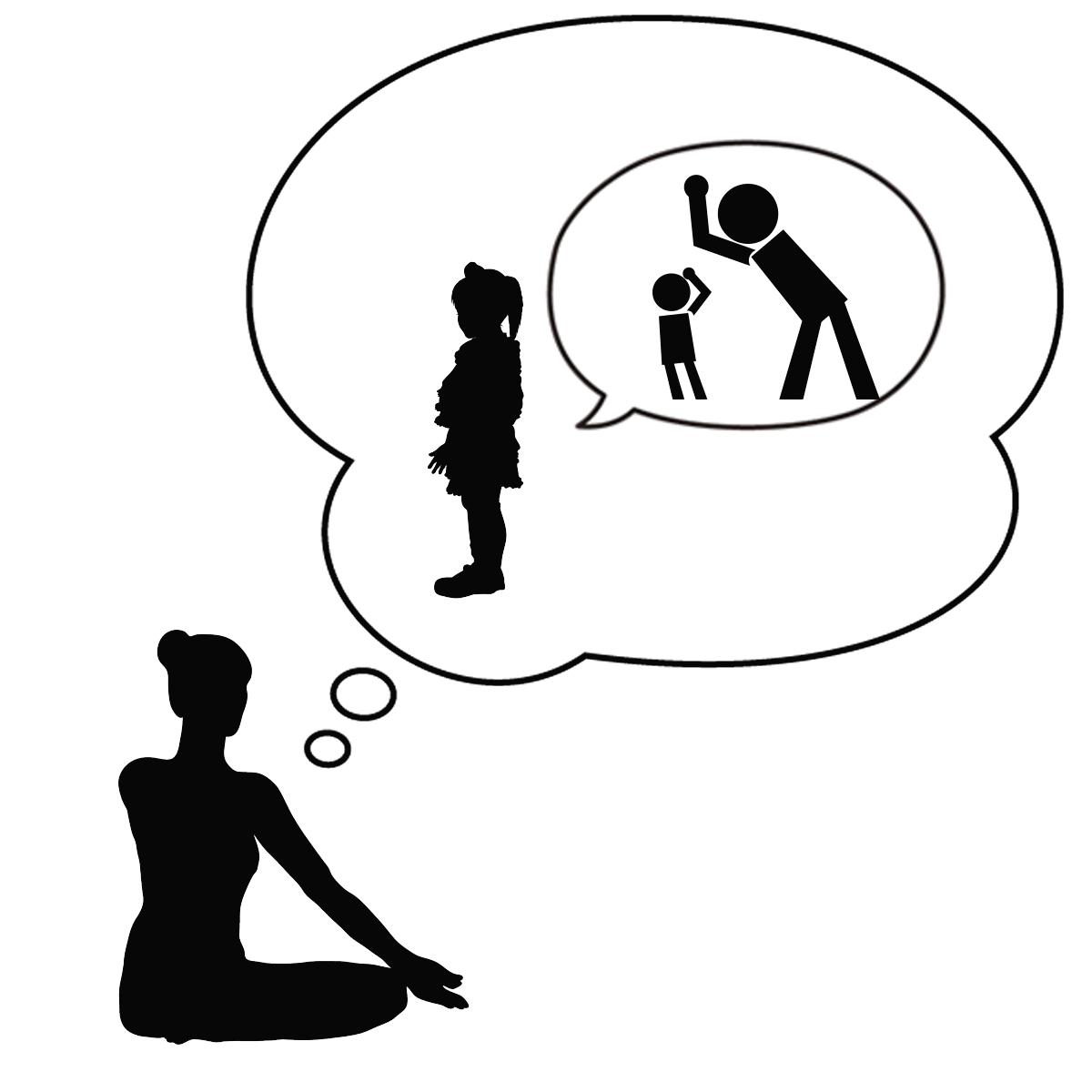 子供時代のトラウマをインナーチャイルドセラピーで癒すことでアダルトチルドレンの克服をしているイメージ