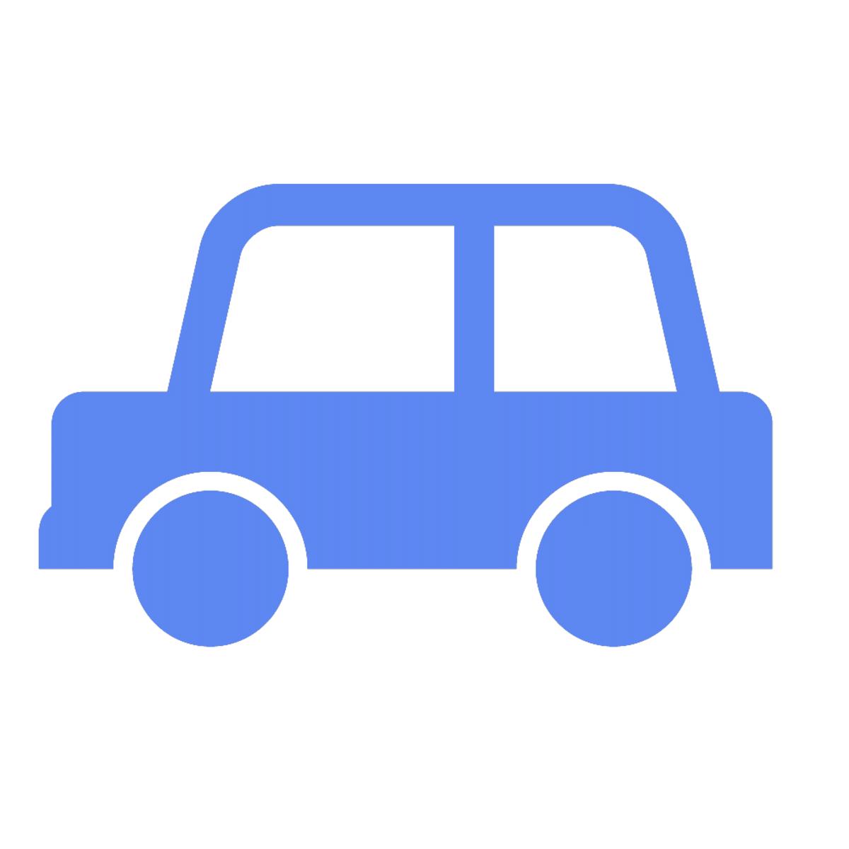 車による送迎の説明を示しているイラスト