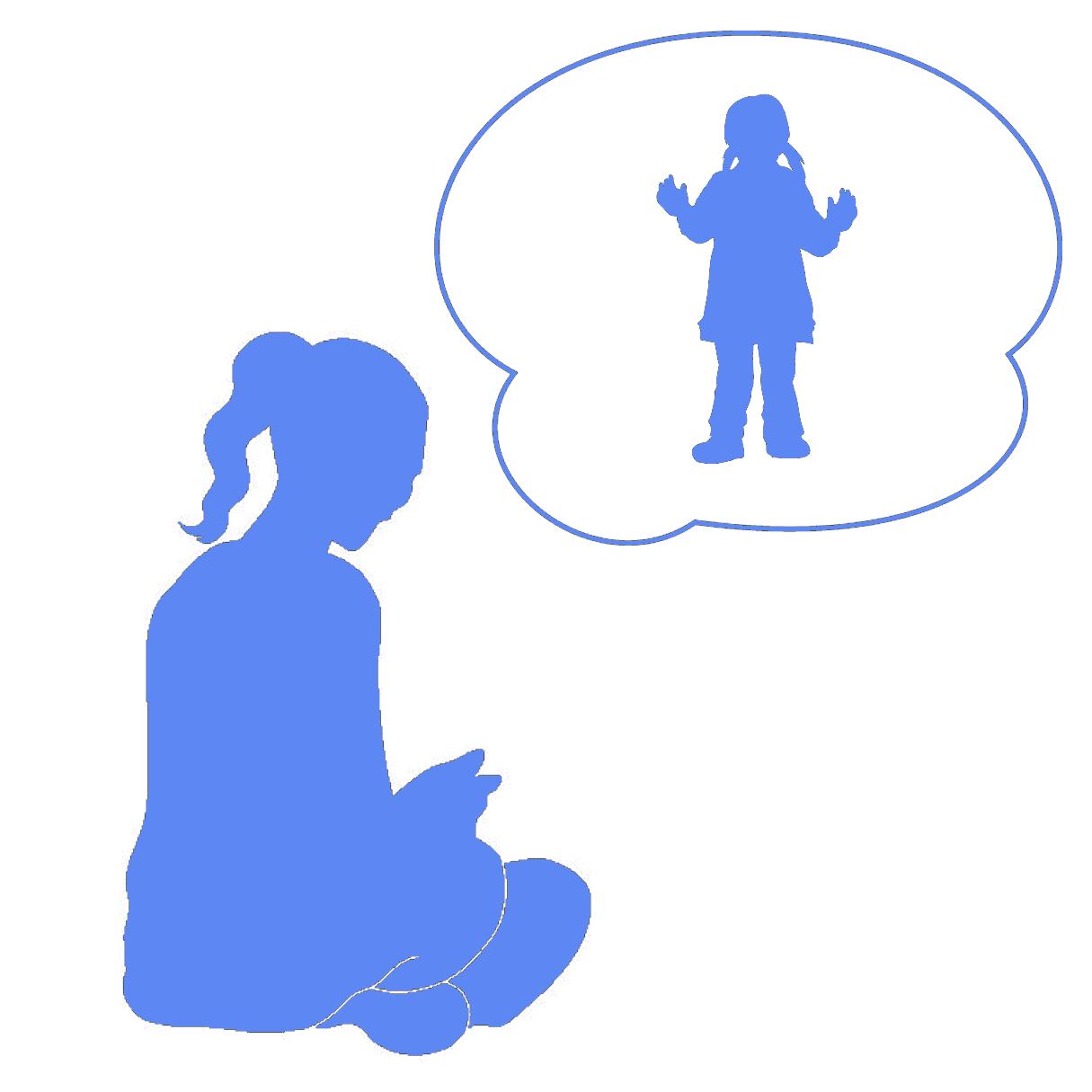 インナーチャイルドセラピー(退行催眠)を表しているイメージ
