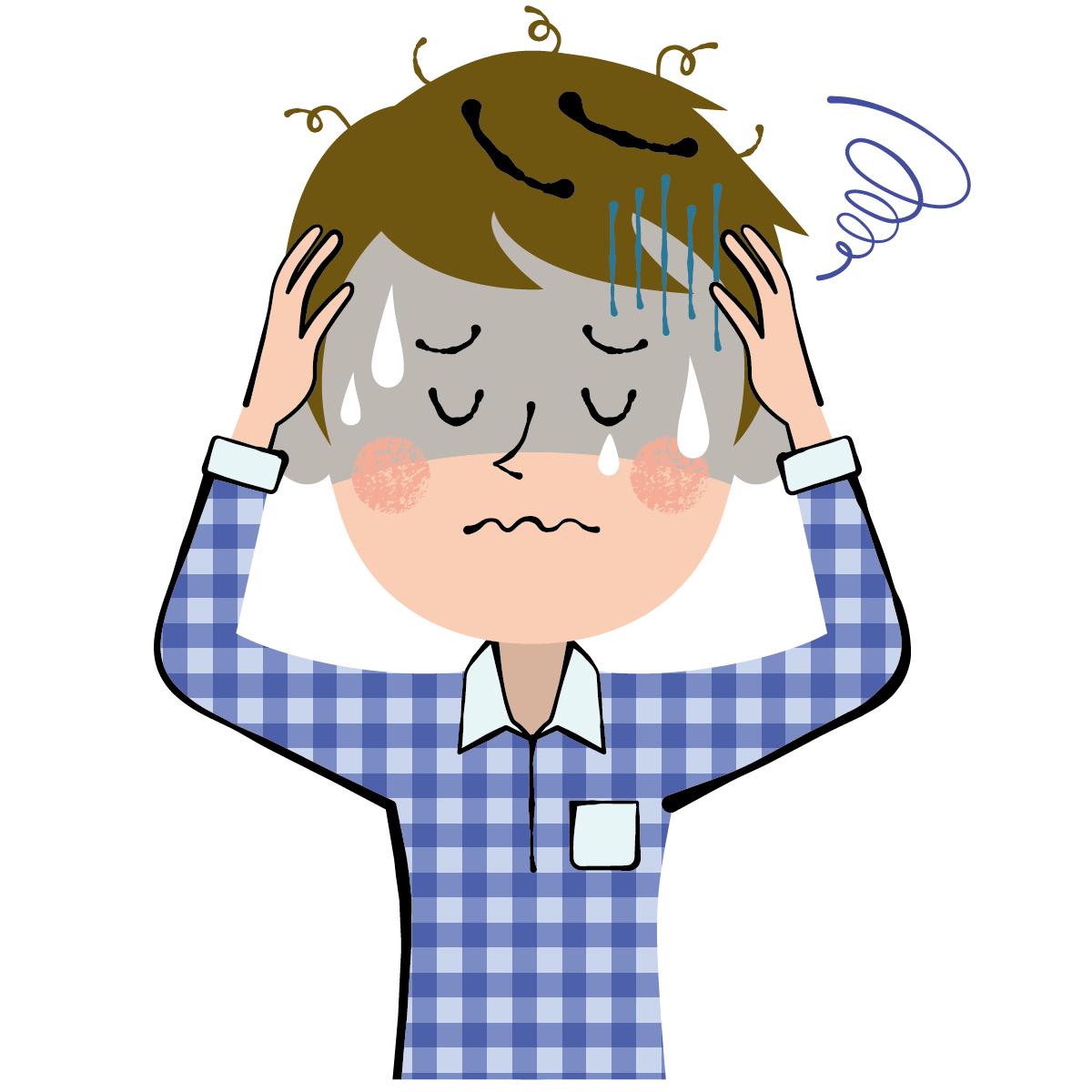 やる気の出ない理由は、やる気を温存して回復に専念させるためであることを表すイラスト