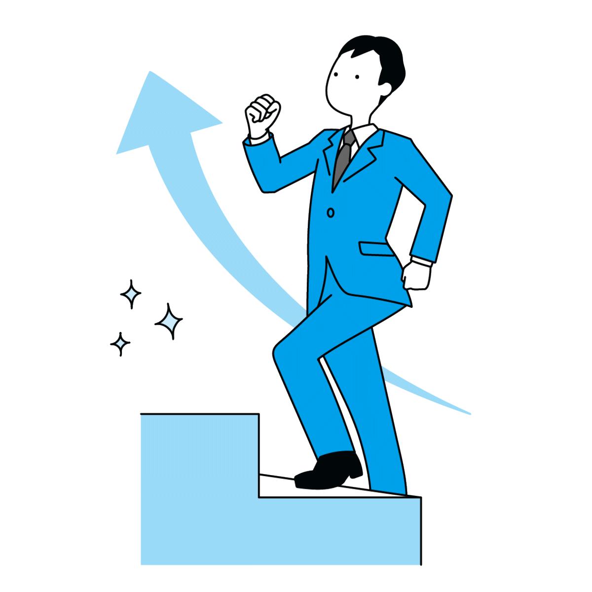 やる気の出すためには手順や順序が大切であることを表しているイラスト