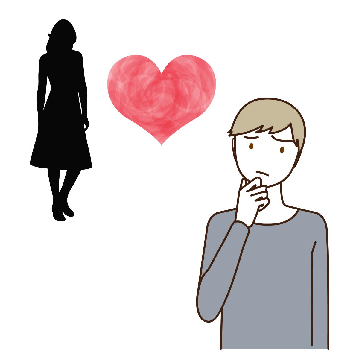 毒親育ちの男性の恋愛傾向を表しているイラスト