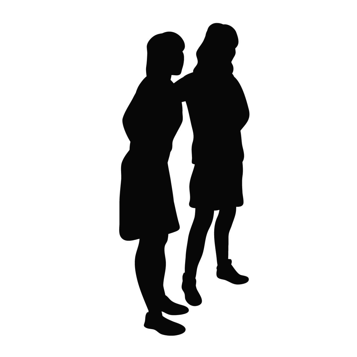 友人や恋人に強く依存してしまうという毒親育ちの女性の性格的な特徴を表すイラスト