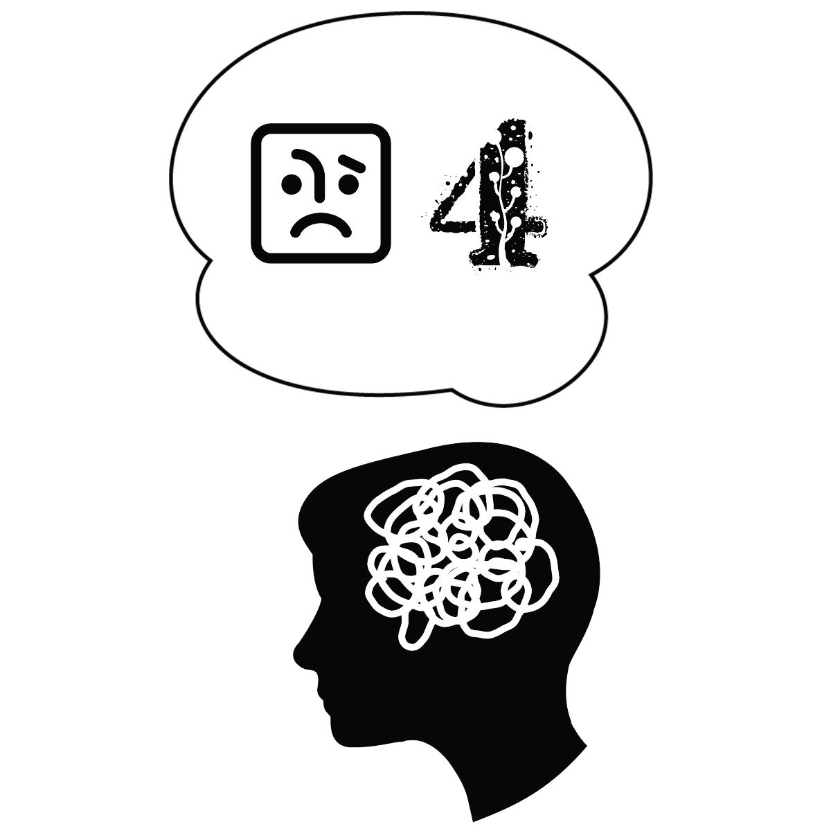 アダルトチルドレンの「4つ」の心理的な特徴を表しているイラスト