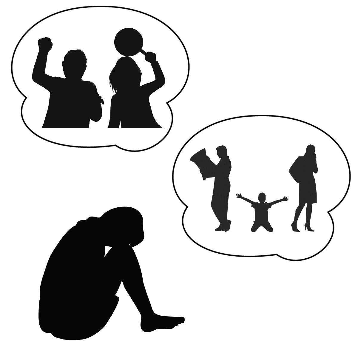 アダルトチルドレンが生まれる理由を表しているイラスト