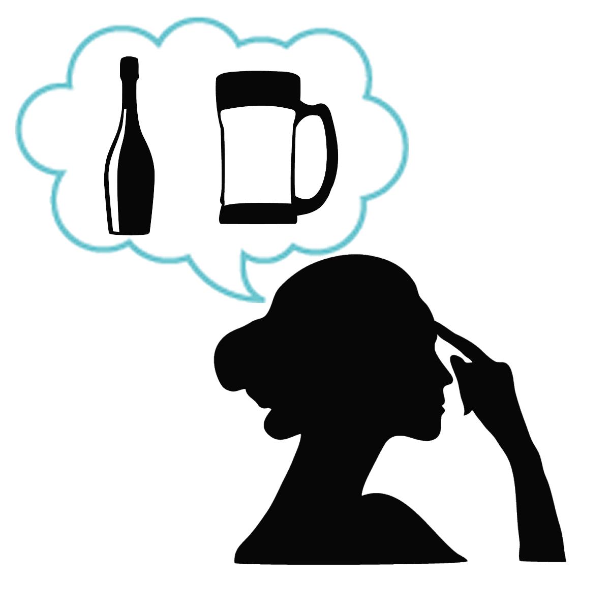 アダルトチルドレンの歴史はアルコール依存症との関りが深いことを表すイラスト
