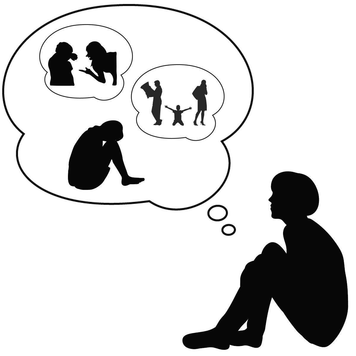 アダルトチルドレンと機能不全家族の関係を表しているイラスト