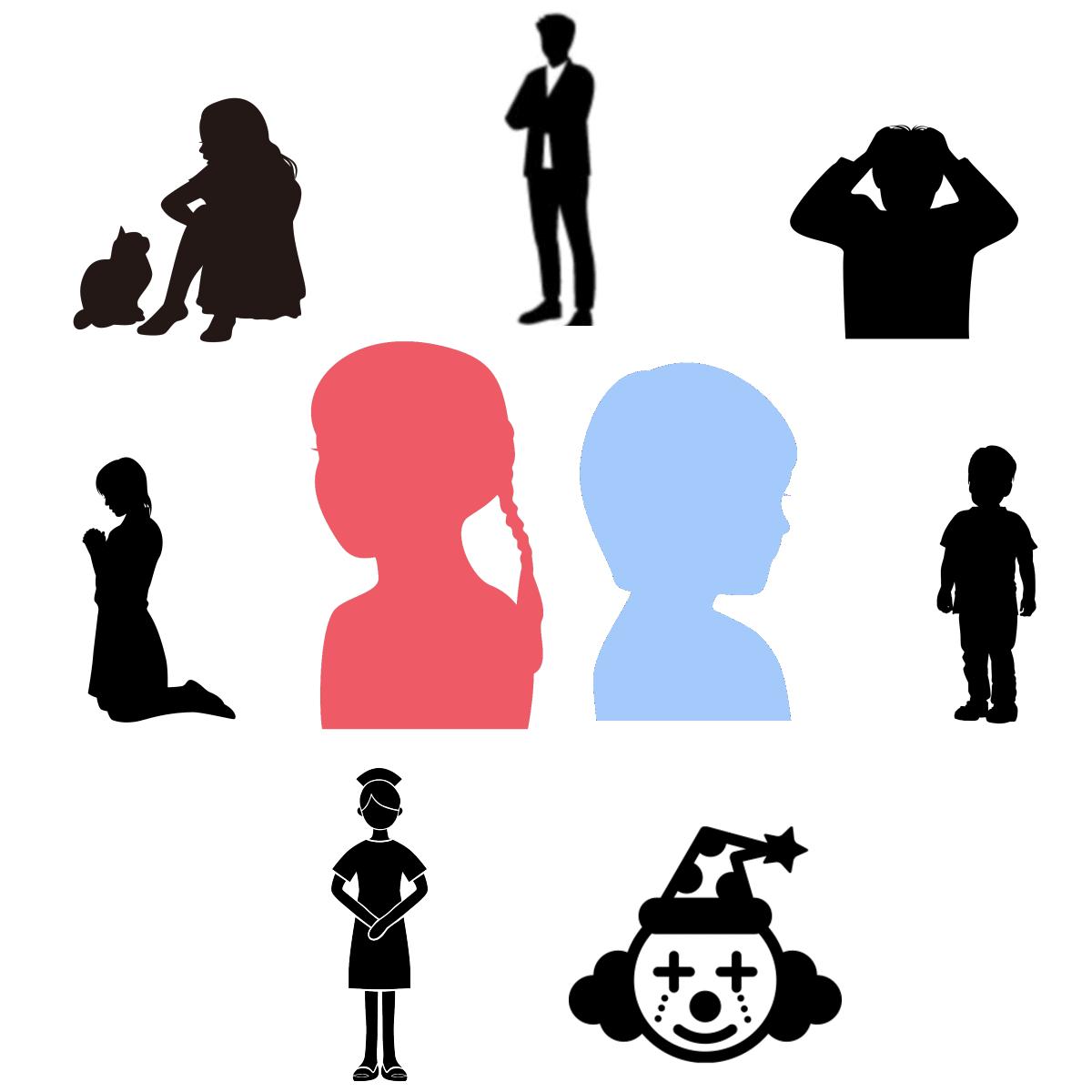 アダルトチルドレンの願いの表れ「7つのアダルトチルドレンタイプ」を表すイラスト
