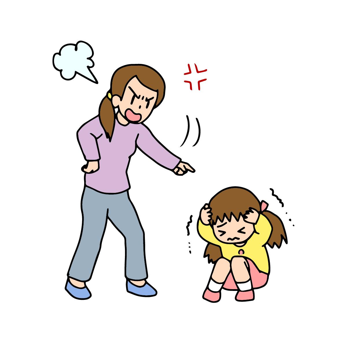 毒親である母親の子育ての特徴と表わすイラスト