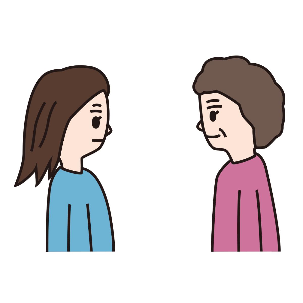 毒母と娘が共依存をしているイメージ
