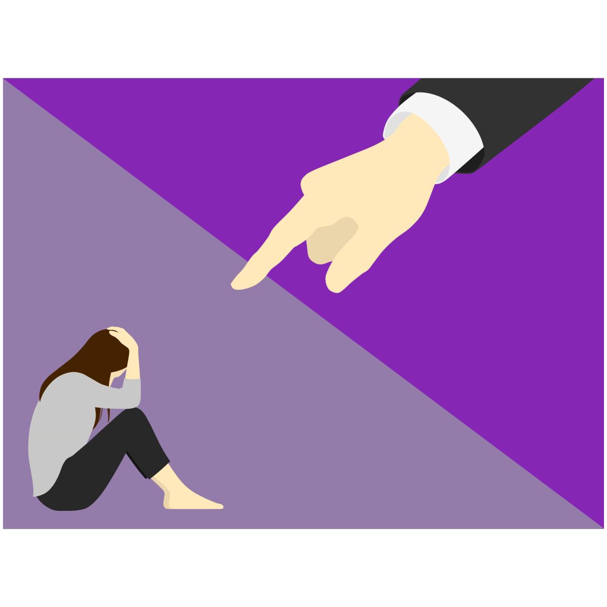 恋愛相手を支配・束縛しようとするという毒親育ちの男性の恋愛傾向を表すイラスト